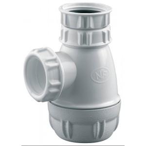 Siphon pour tout type de lavabo PVC 40 1''1/4
