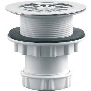 Bonde de douche à grille sv pr receveur Ø 60 mm