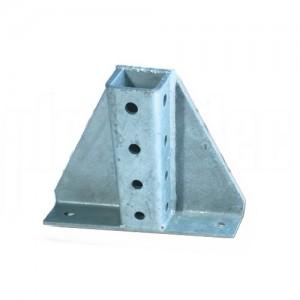 Socle pour Rail 41x41 14 trous